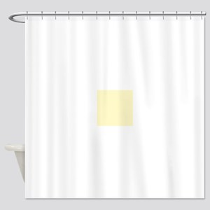 Pastel Yellow Solid Color Shower Curtain