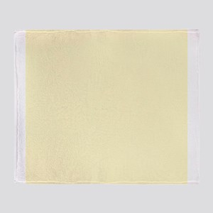 Pastel Yellow Solid Color Throw Blanket