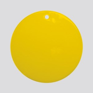 Mustard Yellow Solid Color Ornament (Round)