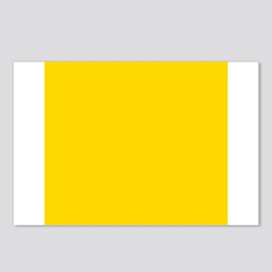 Mustard Yellow Solid Color Postcards (Package of 8