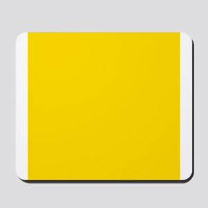 Mustard Yellow Solid Color Mousepad