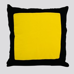 Mustard Yellow Solid Color Throw Pillow