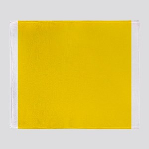 Mustard Yellow Solid Color Throw Blanket
