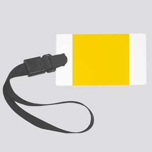 Mustard Yellow Solid Color Large Luggage Tag