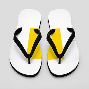 Mustard Yellow Solid Color Flip Flops