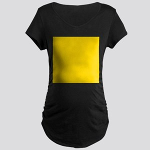 Mustard Yellow Solid Color Maternity T-Shirt
