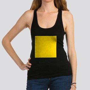 Mustard Yellow Solid Color Racerback Tank Top