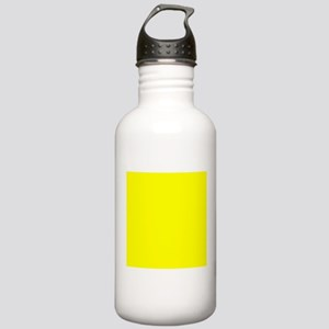 Lemon Yellow Solid Color Sports Water Bottle