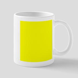 Lemon Yellow Solid Color Mugs