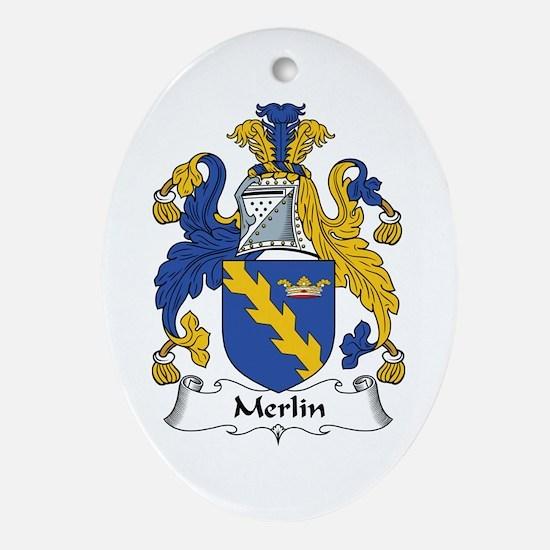 Merlin Oval Ornament