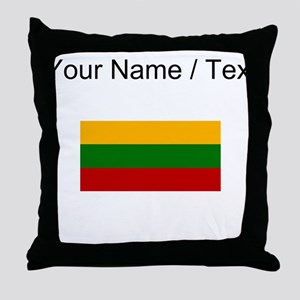 Custom Lithuania Flag Throw Pillow
