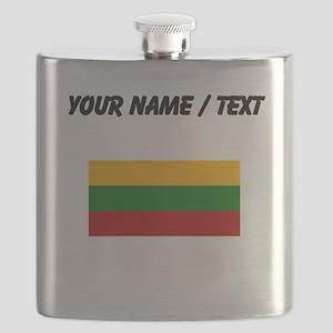 Custom Lithuania Flag Flask