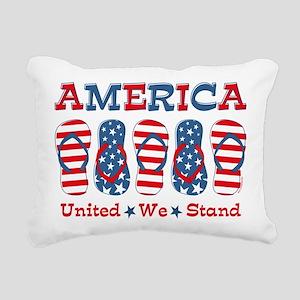 Flip Flop America Rectangular Canvas Pillow