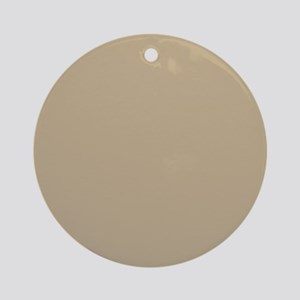 Khaki beige solid colod Ornament (Round)
