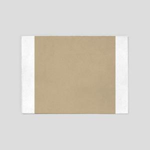 Khaki beige solid colod 5'x7'Area Rug