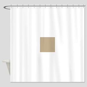 Khaki beige solid colod Shower Curtain