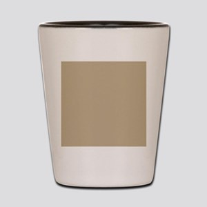 Khaki beige solid colod Shot Glass