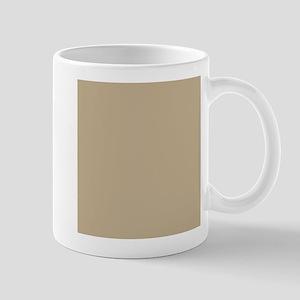 Khaki beige solid colod Mugs