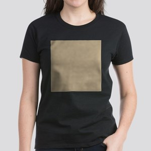 Khaki beige solid colod T-Shirt