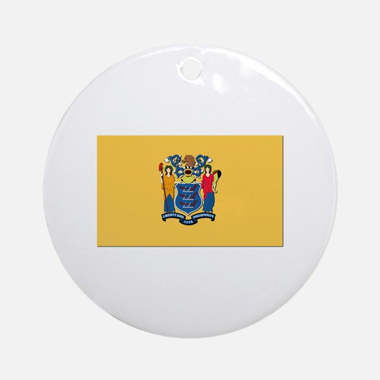 Flag of New Jersey Ornament (Round)