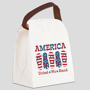 Flip Flop America Canvas Lunch Bag