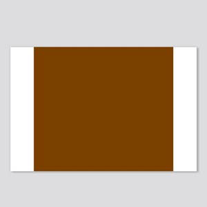 Brown Solid Color Postcards (Package of 8)