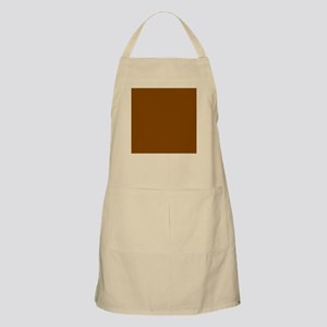Brown Solid Color Apron
