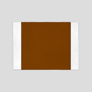 Brown Solid Color 5'x7'Area Rug