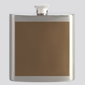 Brown Solid Color Flask