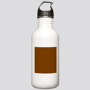 Brown Solid Color Sports Water Bottle