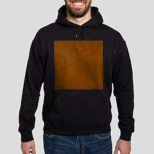 Brown Solid Color Hoody