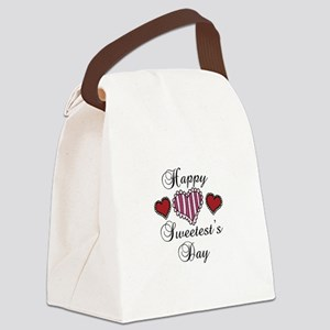 Happy sweetests day Canvas Lunch Bag