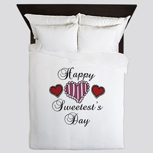 Happy sweetests day Queen Duvet