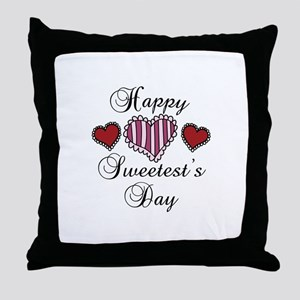 Happy sweetests day Throw Pillow