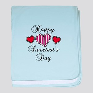 Happy sweetests day baby blanket