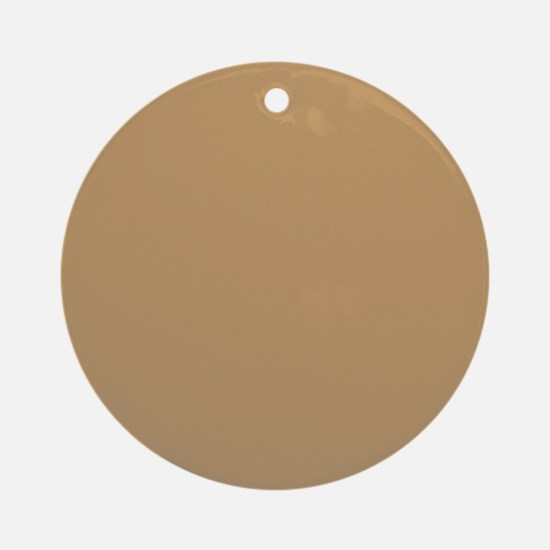 Tan Brown Solid Color Ornament (Round)
