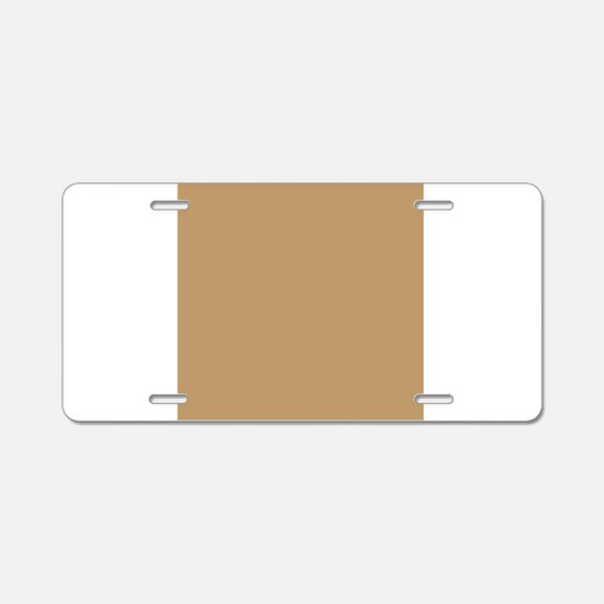 Tan Brown Solid Color Aluminum License Plate