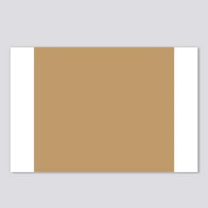 Tan Brown Solid Color Postcards (Package of 8)