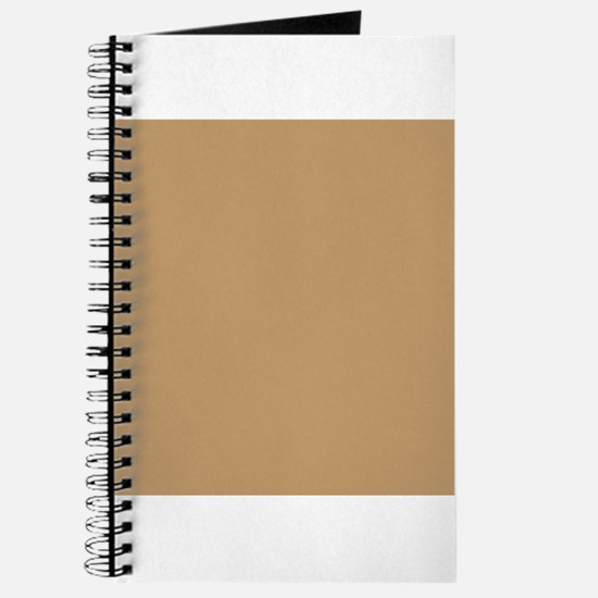Tan Brown Solid Color Journal