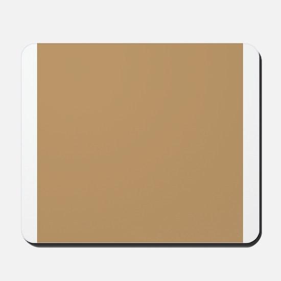Tan Brown Solid Color Mousepad