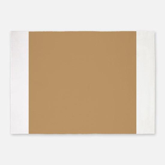 Tan Brown Solid Color 5'x7'Area Rug