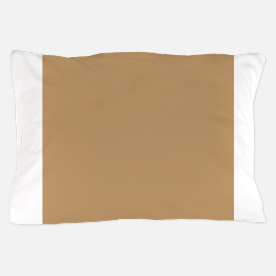 Tan Brown Solid Color Pillow Case