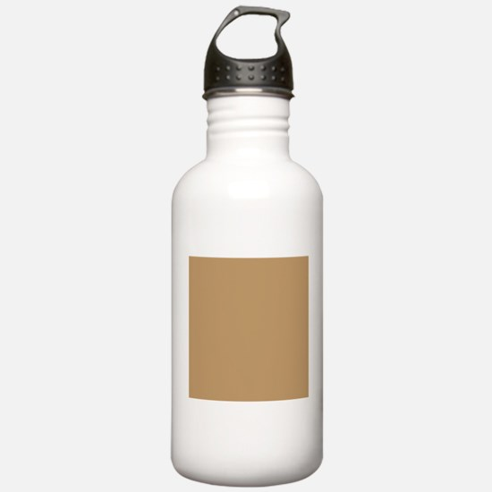 Tan Brown Solid Color Sports Water Bottle