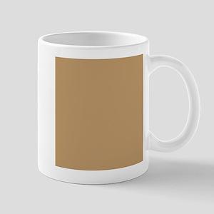 Tan Brown Solid Color Mugs