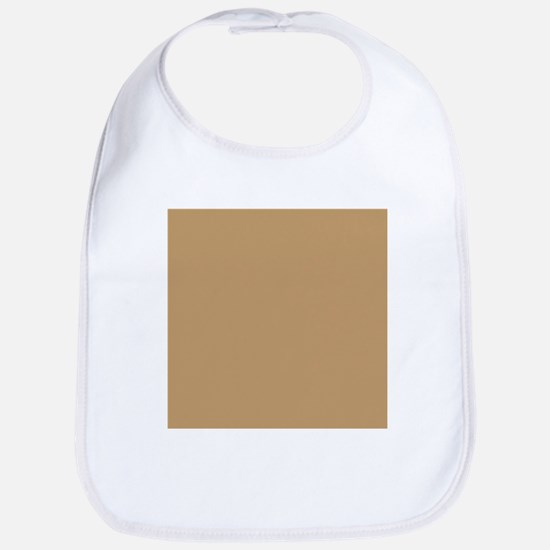 Tan Brown Solid Color Bib