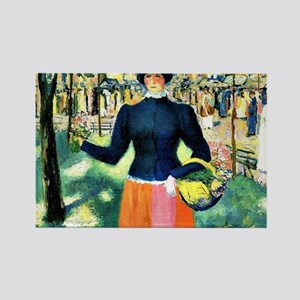 Malevich - Flowergirl Rectangle Magnet