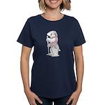 A Well-dressed Badger Women's Dark T-Shirt