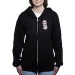A Well-dressed Badger Women's Zip Hoodie