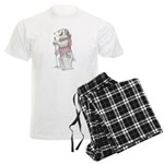 A Well-dressed Badger Men's Light Pajamas
