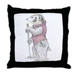 A Well-dressed Badger Throw Pillow